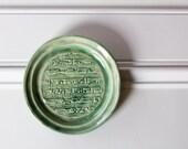 Muscial Notes Ceramic Dish // Textured Details