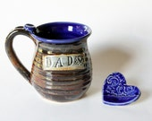 DAD mug // Earthy Tones // Ready to Ship // Generous 12 oz Ceramic Stoneware