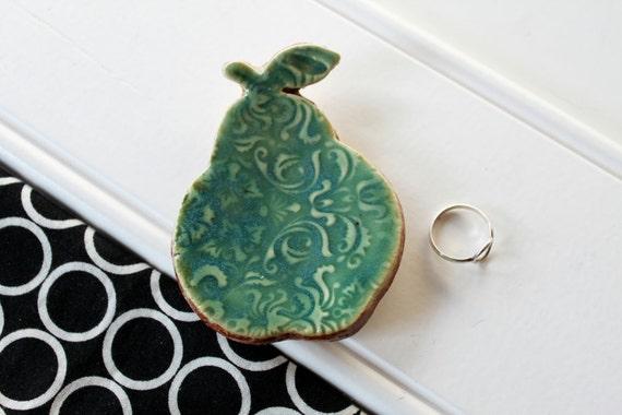 Ceramic Pear Ring Catcher