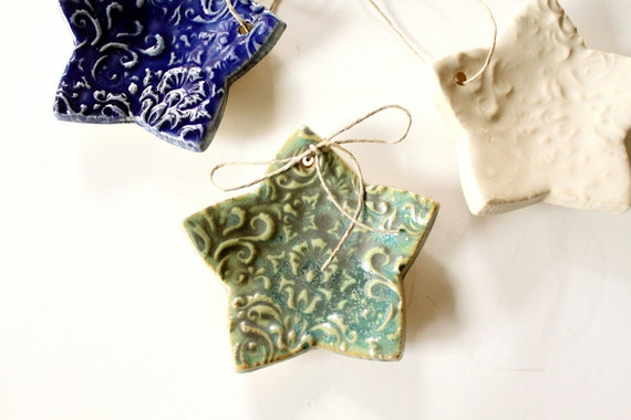 Hanging Stars or RIng Catchers - Set of Three