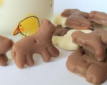Animal Cracker Soap Set Children Glycerin Vegan  Soap, Birthday Favor, Stocking Stuffer, Cookie Soap, Wedding Favor, Teacher Gift, Zoo Shape