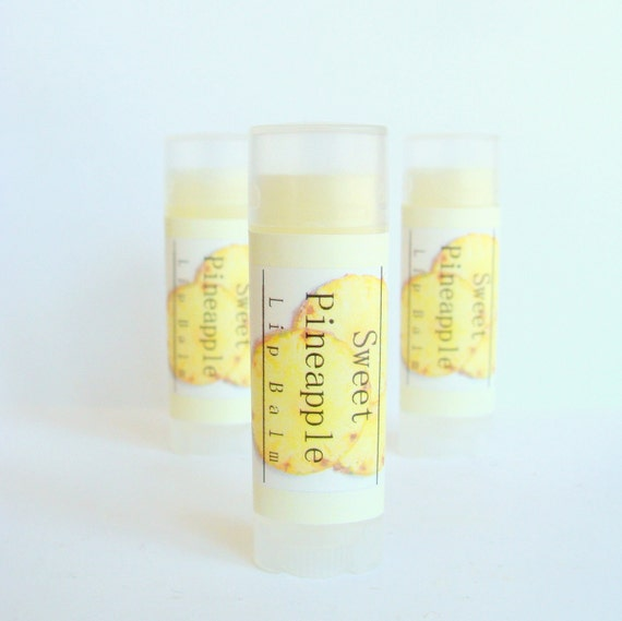 Sweet Pineapple Lip Balm - Fruity Juicy Flavor