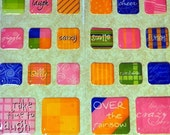 Square Slick Stickers for Tile Pendants,Scrapbooking, Cards, Tags