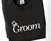 Embroidered Groom  T-Shirt Bridal Shower Gift Wedding