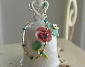 Emerald Bracelet in 14K gold filled