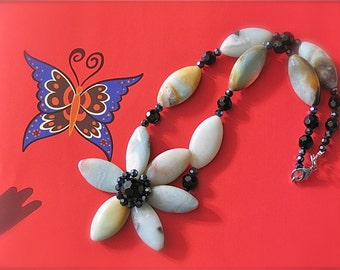 Amazonite Flower necklace