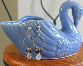 Circle of love earrings in blue Sapphire