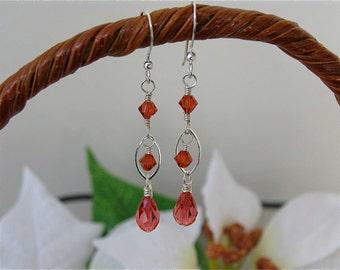 Swarovski Crystal drop dangling earrings