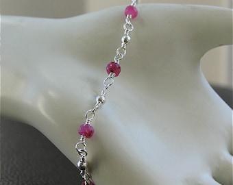 Last one - Ruby Bracelet in Sterling silver