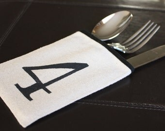 Silverware Sleeve - One, Two, Three, Four - Numbered Set