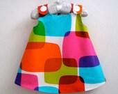 Rainbow Windowpanes toddler girls children's dress - size 2t