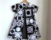 Mod Geometric pleat girls children's dress - size 6 kids fashion