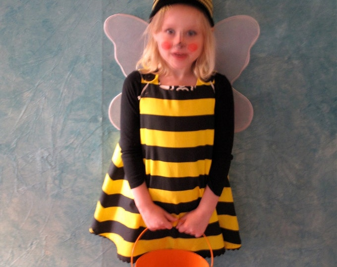 Bumblebee Bumble Bee Halloween Costume Dress - Sizes Newborn to Girls Size 12 - 18 Months - Baby Costume, Kids Costume, Ready to Ship
