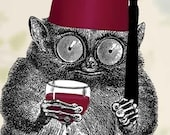 Drinking With My Fez - Art Magnet