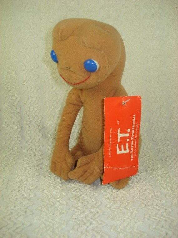1982 Kamar E.T. Extra Terrestrial Plush Doll with Tags - Mint Conditon