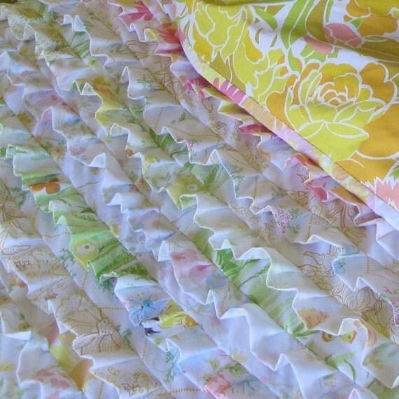 Pattern--vintage sheet ruffle quilt