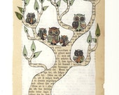 Owl Family - Print
