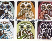 NEW - Sticker set - Owl