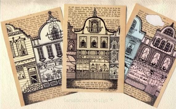 Postcard set - Houses