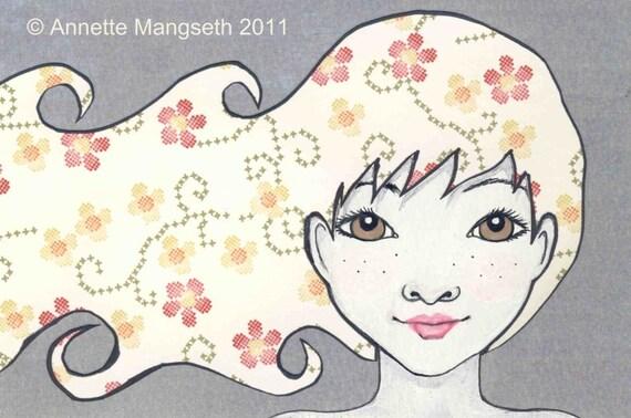 Claudia - Original illustration