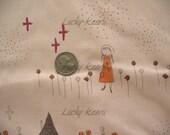 Megumi Sakakibara Uma Toie Peach Pink Japanese Fabric - Half Yard
