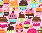Michael Miller Sweet Treats Pink Fabric - By the Yard