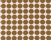 SALE/CLEARANCE Ann Kelle, Izzy, Octagon FLANNEL Fabric in Brown - Half Yard