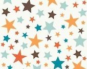 Riley Blake Designs, All Star 2, Main Stars Orange Fabric - Half Yard