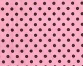 Michael Miller Dumb Dot Pink Fabric - Half Yard