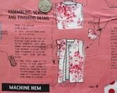 Suzuko Koseki, Sewing Pattern, Coral Pink Japanese Fabric  - Half Yard
