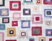 SALE/CLEARANCE Keiko Goke, Blocks, Multi on Natural Japanese Fabric  - Half Yard