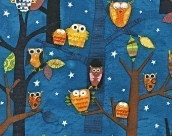 Amy Schimler Forest Fun Owls Spice OOP Fabric - By the Yard