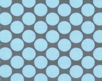 Amy Butler Full Moon Polka Dot Slate Fabric - By the Yard