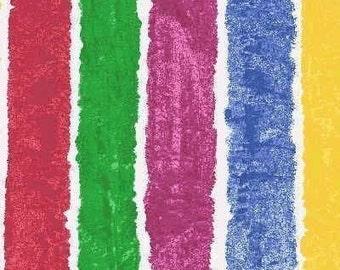 Eric Carle, Brown Bear Multi Stripe Fabric - 1 Yard
