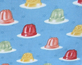 Michael Miller Blue Jiggle OOP Fabric - REMNANT Size 23 Inches by 44 Inches