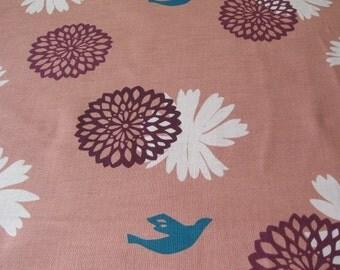 Echino Flower Pink OOP Fabric- Half Yard