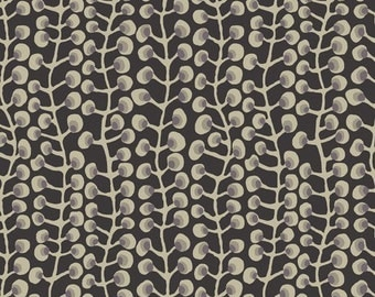 Kim Schaffer, Moxie Pods Black Fabric - REMNANT Size 27 Inches by 44 Inches