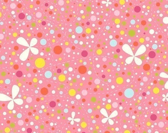 Girl Friday Cosmo Cricket Dots on Pink OOP Fabric - Half Yard