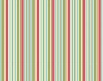 SALE/CLEARANCE Riley Blake Designs, Just Dreamy, Blue Stripe Fabric - REMNANT Size 20 Inches by 43 Inches