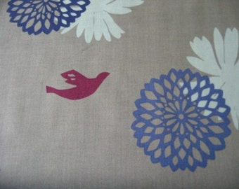 Echino Flower Blue Gray OOP Fabric- HALF YARD