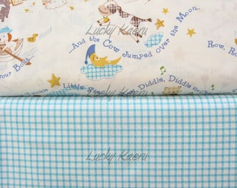 Nursery Rhyme Blue Half Yard Fabric Set