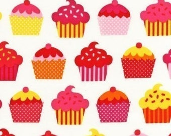 Caleb Gray Confections Cupcake White OOP  Fabric - Half Yard