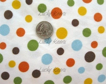 2ModMoms Baobab Dot FLANNEL Fabric - REMNANT Size 24 Inches by 44 Inches