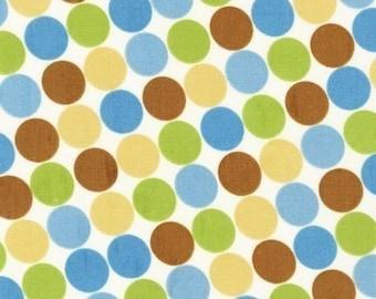 SALE/CLEARANCE Caleb Gray Groove Dot Nutmeg Fabric- By the Yard