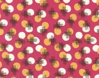 SALE/CLEARANCE Josephine Kimberling, Just Dandy, Dots Petunia Fabric - Half Yard