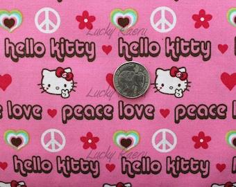 Hello Kitty Peace Pink OOP Fabric - Half Yard