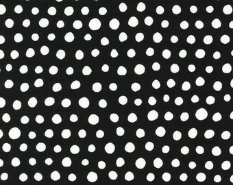 Jennifer Moore for Monaluna Mingle Dots Licorice Fabric - By the Yard
