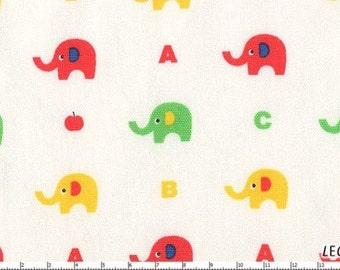 SALE Minny Muu Plus Elephant on Natural Japanese Fabric - Half Yard