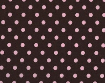 Michael Miller Dumb Dot Cocoa Fabric - REMNANT Size 27 Inches by 44 Inches