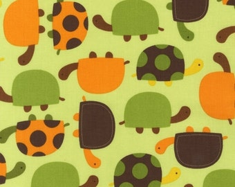Ann Kelle Urban Zoologie, Turtles Bermuda Fabric - REMNANT Size 27 Inches by 44 Inches